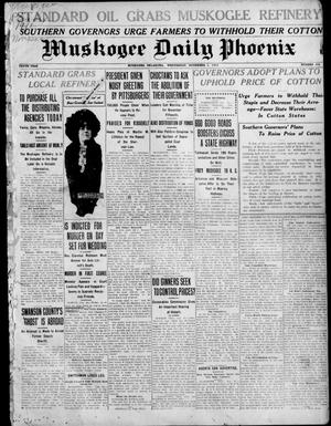 Primary view of object titled 'Muskogee Daily Phoenix (Muskogee, Oklahoma), Vol. 10, No. 268, Ed. 1 Wednesday, November 1, 1911'.