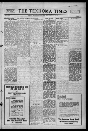 Primary view of object titled 'The Texhoma Times (Texhoma, Okla.), Vol. 12, No. 4, Ed. 1 Friday, October 16, 1914'.