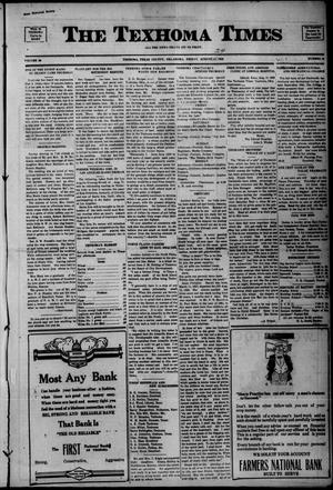 Primary view of object titled 'The Texhoma Times (Texhoma, Okla.), Vol. 20, No. 48, Ed. 1 Friday, August 24, 1923'.