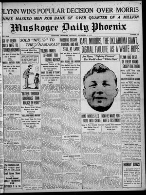 Primary view of object titled 'Muskogee Daily Phoenix (Muskogee, Oklahoma), Vol. 10, No. 229, Ed. 1 Saturday, September 16, 1911'.