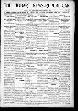 Primary view of object titled 'The Hobart News--Republican (Hobart, Okla.), Vol. 5, No. 31, Ed. 1 Friday, March 9, 1906'.