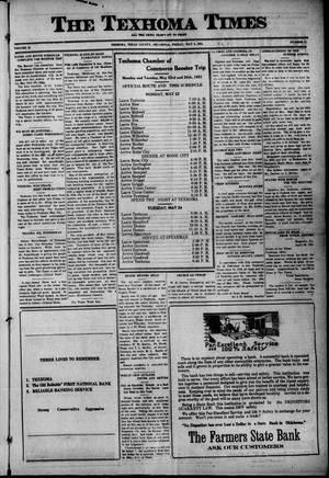 Primary view of The Texhoma Times (Texhoma, Okla.), Vol. 18, No. 32, Ed. 1 Friday, May 6, 1921