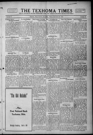 Primary view of object titled 'The Texhoma Times (Texhoma, Okla.), Vol. 12, No. 53, Ed. 1 Friday, September 24, 1915'.