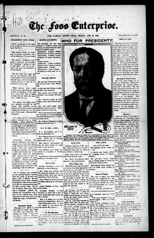 Primary view of The Foss Enterprise. (Foss, Okla.), Vol. 11, No. 26, Ed. 1 Friday, April 19, 1912
