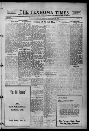 Primary view of object titled 'The Texhoma Times (Texhoma, Okla.), Vol. 12, No. 27, Ed. 1 Friday, March 26, 1915'.
