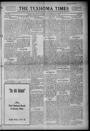 Primary view of object titled 'The Texhoma Times (Texhoma, Okla.), Vol. 12, No. 52, Ed. 1 Friday, September 17, 1915'.