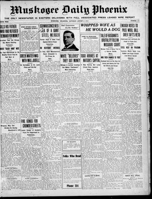 Primary view of object titled 'Muskogee Daily Phoenix (Muskogee, Oklahoma), Vol. 10, No. 191, Ed. 1 Saturday, August 5, 1911'.