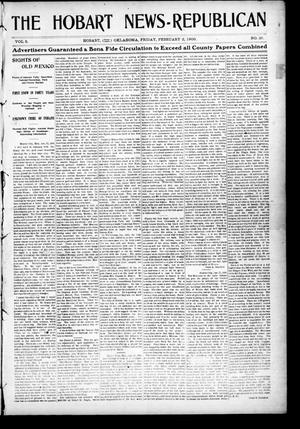 Primary view of object titled 'The Hobart News--Republican (Hobart, Okla.), Vol. 5, No. 26, Ed. 1 Friday, February 2, 1906'.