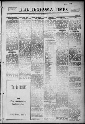 Primary view of object titled 'The Texhoma Times (Texhoma, Okla.), Vol. 12, No. 51, Ed. 1 Friday, September 10, 1915'.