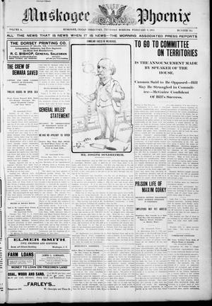 Primary view of object titled 'Muskogee Daily Phoenix (Muskogee, Indian Terr.), Vol. 4, No. 149, Ed. 1 Thursday, February 9, 1905'.