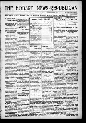 Primary view of object titled 'The Hobart News--Republican (Hobart, Okla.), Vol. 6, No. 5, Ed. 1 Friday, September 7, 1906'.