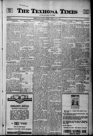 Primary view of object titled 'The Texhoma Times (Texhoma, Okla.), Vol. 20, No. 24, Ed. 1 Friday, March 9, 1923'.