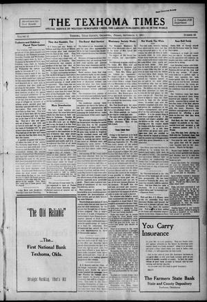 Primary view of object titled 'The Texhoma Times (Texhoma, Okla.), Vol. 12, No. 50, Ed. 1 Friday, September 3, 1915'.