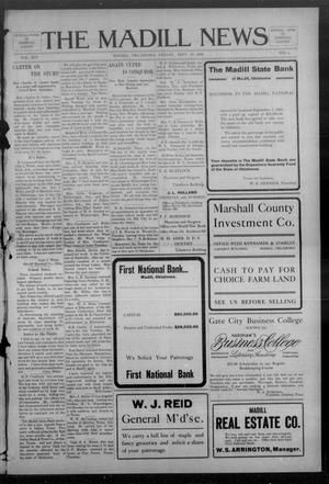 Primary view of object titled 'The Madill News (Madill, Okla.), Vol. 14, No. 4, Ed. 1 Friday, September 25, 1908'.