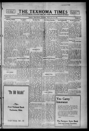 Primary view of object titled 'The Texhoma Times (Texhoma, Okla.), Vol. 12, No. 44, Ed. 1 Friday, July 23, 1915'.