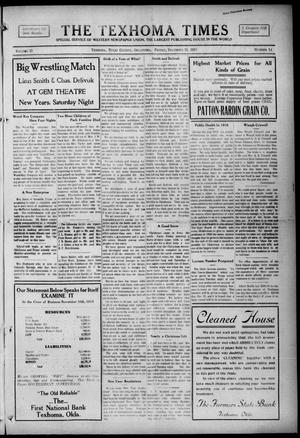 Primary view of object titled 'The Texhoma Times (Texhoma, Okla.), Vol. 13, No. 14, Ed. 1 Friday, December 31, 1915'.