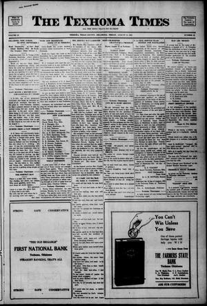 Primary view of object titled 'The Texhoma Times (Texhoma, Okla.), Vol. 18, No. 46, Ed. 1 Friday, August 12, 1921'.