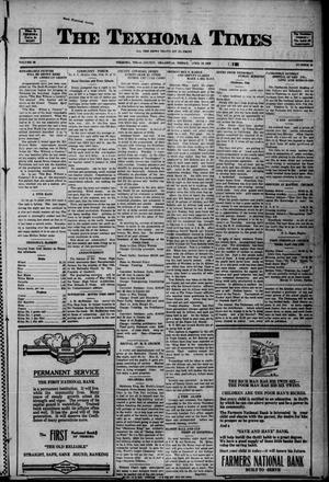 Primary view of The Texhoma Times (Texhoma, Okla.), Vol. 20, No. 29, Ed. 1 Friday, April 13, 1923