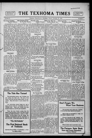 Primary view of object titled 'The Texhoma Times (Texhoma, Okla.), Vol. 11, No. 5, Ed. 1 Friday, October 17, 1913'.