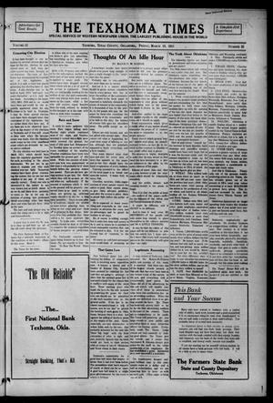 Primary view of object titled 'The Texhoma Times (Texhoma, Okla.), Vol. 12, No. 26, Ed. 1 Friday, March 19, 1915'.