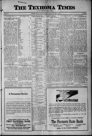 Primary view of The Texhoma Times (Texhoma, Okla.), Vol. 18, No. 6, Ed. 1 Friday, November 5, 1920