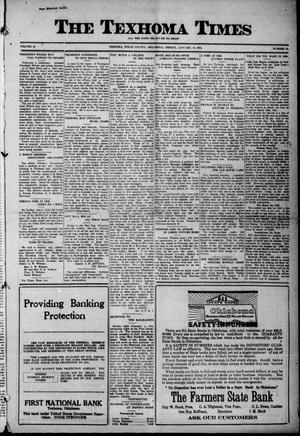 Primary view of object titled 'The Texhoma Times (Texhoma, Okla.), Ed. 1 Friday, January 14, 1921'.