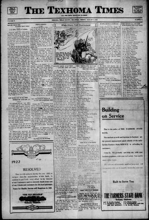 Primary view of object titled 'The Texhoma Times (Texhoma, Okla.), Ed. 1 Friday, January 6, 1922'.