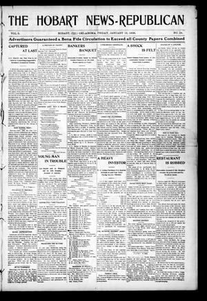 Primary view of object titled 'The Hobart News--Republican (Hobart, Okla.), Vol. 5, No. 24, Ed. 1 Friday, January 19, 1906'.