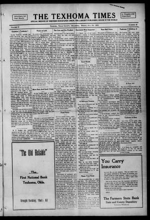 Primary view of object titled 'The Texhoma Times (Texhoma, Okla.), Vol. 12, No. 45, Ed. 1 Friday, July 30, 1915'.