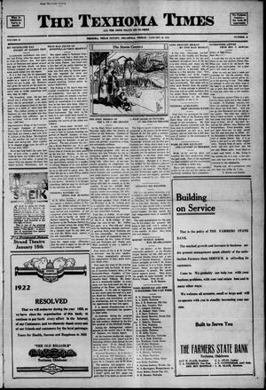 Primary view of object titled 'The Texhoma Times (Texhoma, Okla.), Ed. 1 Friday, January 13, 1922'.