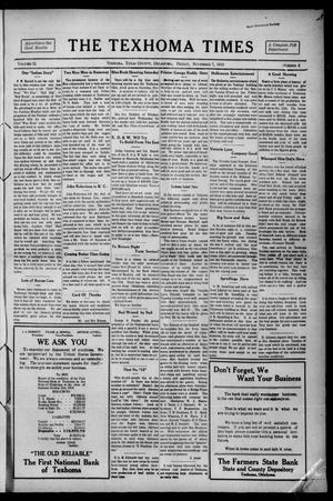 Primary view of object titled 'The Texhoma Times (Texhoma, Okla.), Vol. 11, No. 8, Ed. 1 Friday, November 7, 1913'.