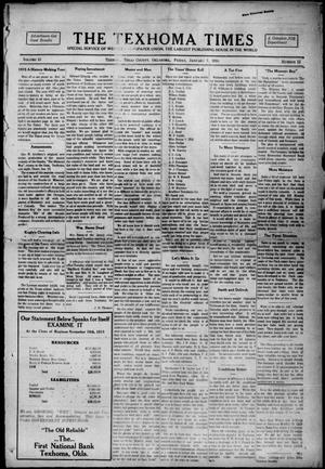 Primary view of object titled 'The Texhoma Times (Texhoma, Okla.), Vol. 13, No. 15, Ed. 1 Friday, January 7, 1916'.