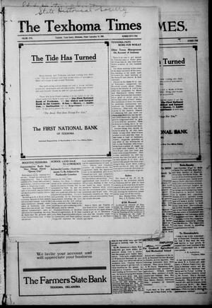 Primary view of object titled 'The Texhoma Times. (Texhoma, Okla.), Vol. 5, No. 52, Ed. 1 Friday, September 10, 1909'.