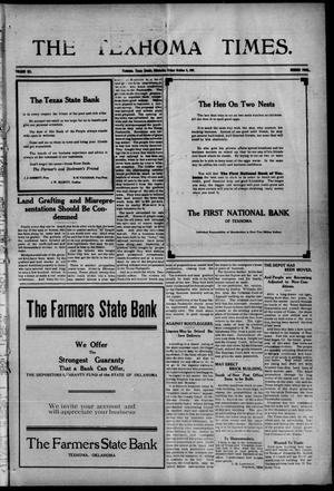 Primary view of object titled 'The Texhoma Times. (Texhoma, Okla.), Vol. 6, No. 4, Ed. 1 Friday, October 8, 1909'.