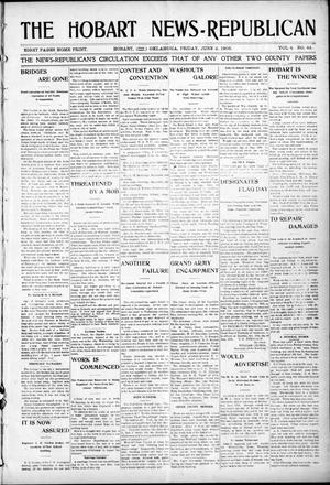Primary view of object titled 'The Hobart News--Republican (Hobart, Okla.), Vol. 4, No. 43, Ed. 1 Friday, June 2, 1905'.