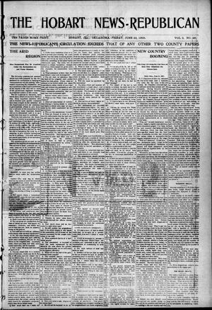 Primary view of object titled 'The Hobart News--Republican (Hobart, Okla.), Vol. 4, No. 46, Ed. 1 Friday, June 23, 1905'.