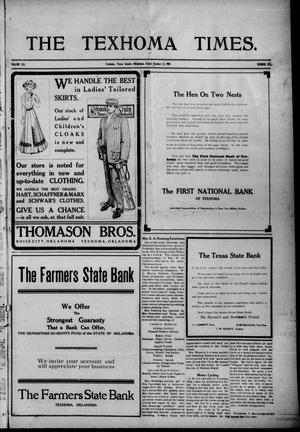 Primary view of object titled 'The Texhoma Times. (Texhoma, Okla.), Vol. 6, No. 6, Ed. 1 Friday, October 22, 1909'.