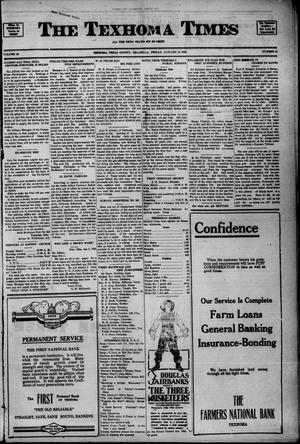 Primary view of object titled 'The Texhoma Times (Texhoma, Okla.), Ed. 1 Friday, January 12, 1923'.