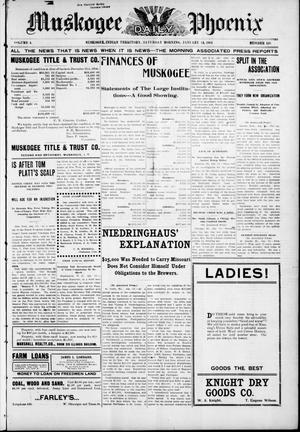 Primary view of object titled 'Muskogee Daily Phoenix (Muskogee, Indian Terr.), Vol. 4, No. 126, Ed. 1 Saturday, January 14, 1905'.