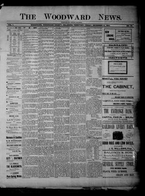 Primary view of The Woodward News. (Woodward, Okla. Terr.), Vol. 1, No. 30, Ed. 1 Friday, December 21, 1894