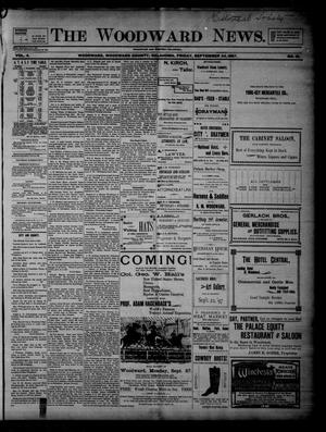 Primary view of object titled 'The Woodward News. (Woodward, Okla.), Vol. 4, No. 18, Ed. 1 Friday, September 24, 1897'.