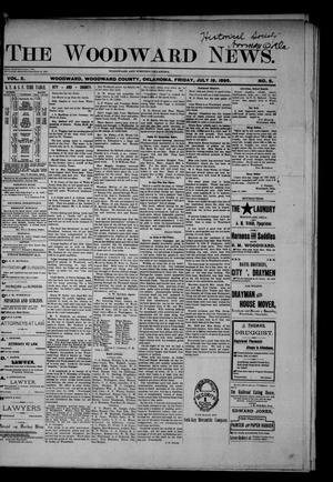 Primary view of object titled 'The Woodward News. (Woodward, Okla.), Vol. 2, No. 8, Ed. 1 Friday, July 19, 1895'.