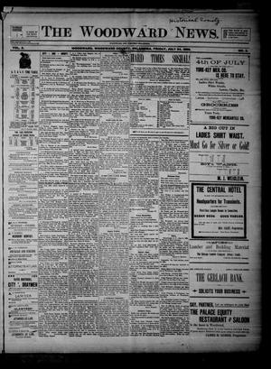 Primary view of object titled 'The Woodward News. (Woodward, Okla.), Vol. 3, No. 9, Ed. 1 Friday, July 24, 1896'.