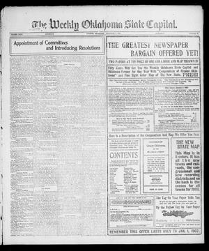 Primary view of object titled 'The Weekly Oklahoma State Capital. (Guthrie, Okla.), Vol. 18, No. 32, Ed. 1 Saturday, December 8, 1906'.