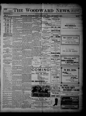 Primary view of object titled 'The Woodward News. (Woodward, Okla.), Vol. 4, No. 17, Ed. 1 Friday, September 17, 1897'.