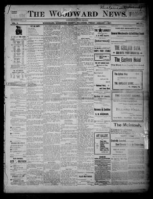 Primary view of object titled 'The Woodward News. (Woodward, Okla.), Vol. 3, No. 32, Ed. 1 Friday, January 1, 1897'.