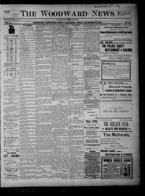 Primary view of The Woodward News. (Woodward, Okla.), Vol. 3, No. 26, Ed. 1 Friday, November 20, 1896