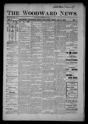 Primary view of object titled 'The Woodward News. (Woodward, Okla.), Vol. 2, No. 7, Ed. 1 Friday, July 12, 1895'.