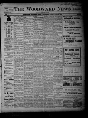 Primary view of object titled 'The Woodward News. (Woodward, Okla.), Vol. 2, No. 46, Ed. 1 Friday, April 10, 1896'.