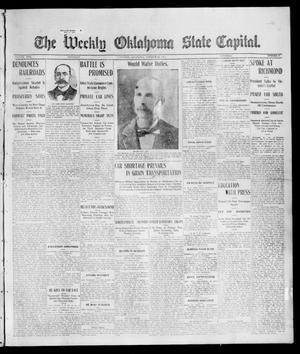 Primary view of object titled 'The Weekly Oklahoma State Capital. (Guthrie, Okla.), Vol. 17, No. 30, Ed. 1 Saturday, October 21, 1905'.